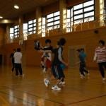 バスケットボールで交流!