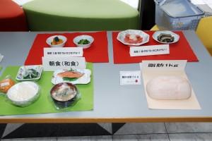 管理栄養士さんによる食事のバランスチェック