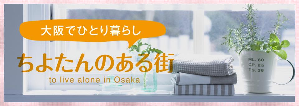 大阪でひとり暮らし ちよたんのある街 to ive alone in Osaka