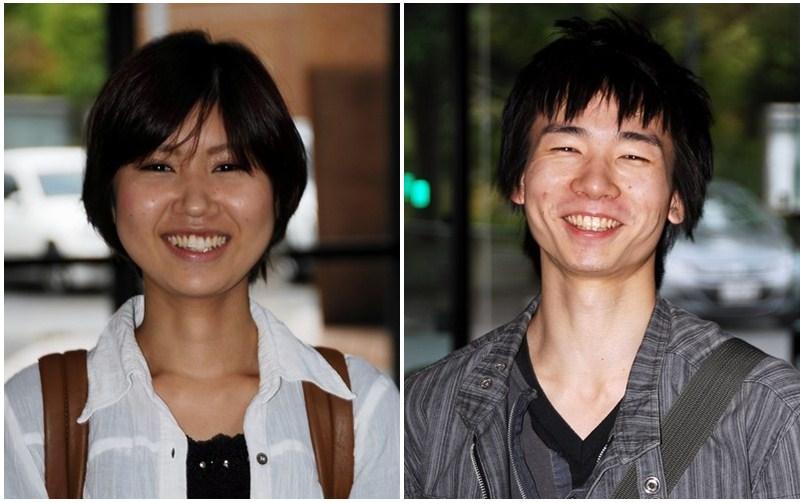 卒業生の櫛田さんと鈴木さん