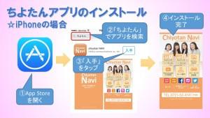 (2)ちよたんアプリのインストール